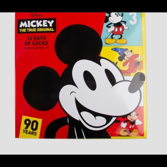 aebeec4ced3 Mickey Mouse 12 Days of Socks